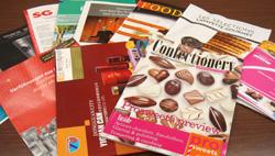 菓子と缶のカタログ