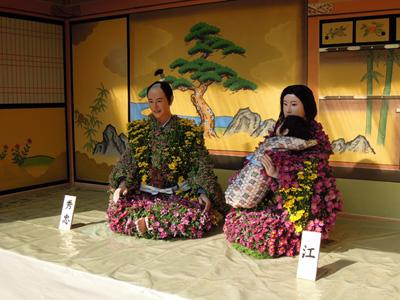 大河ドラマの菊人形
